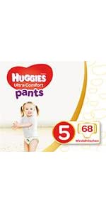1 x 68 Stück Huggies Windeln Ultra Comfort Pants Größe 5 Monatsbox 1er Pack