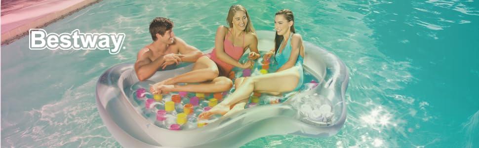 Bestway 43055 - Colchoneta Hinchable Double Beach Bed 193x142 cm: Amazon.es: Juguetes y juegos