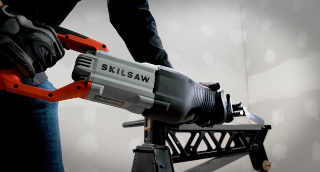 Reciprocating saw cutting rebar