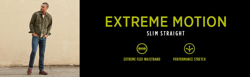 Lee Men's Performance Series Extreme Motion Slim Straight Leg Jean