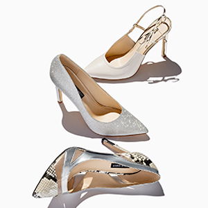 Filled9x9 Nine West Womens Pumps Silver Synthetic