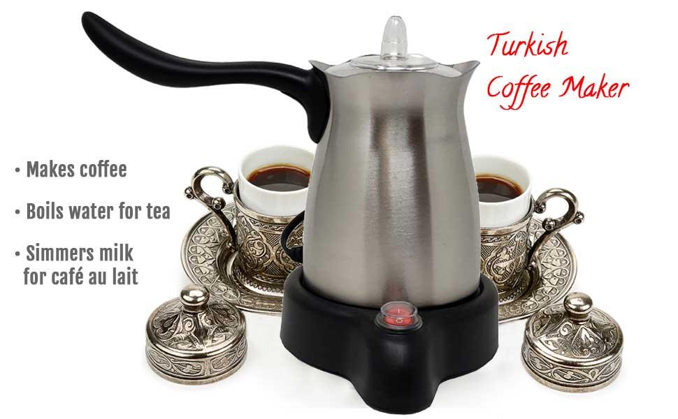 Stainless Steel Turkish Coffee Pot Tea Coffee maker Kettle Percolators Moka Pot