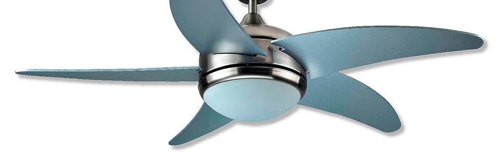 Interfan ETNA Ventilador de techo, Níquel satinado: Amazon.es ...