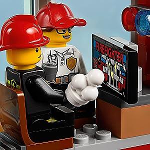 LEGO, fire, city