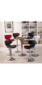 Amazon Com Roundhill Furniture Belham Swivel Black Bonded