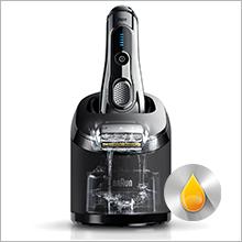 Braun Series 9 9296CC Wet&Dry Rasoio Elettrico con Sistema Clean&Charge, Cromato