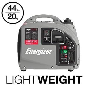 eZV2000S, energizer, inverter, generator, lightweight, portable, 44 lbs