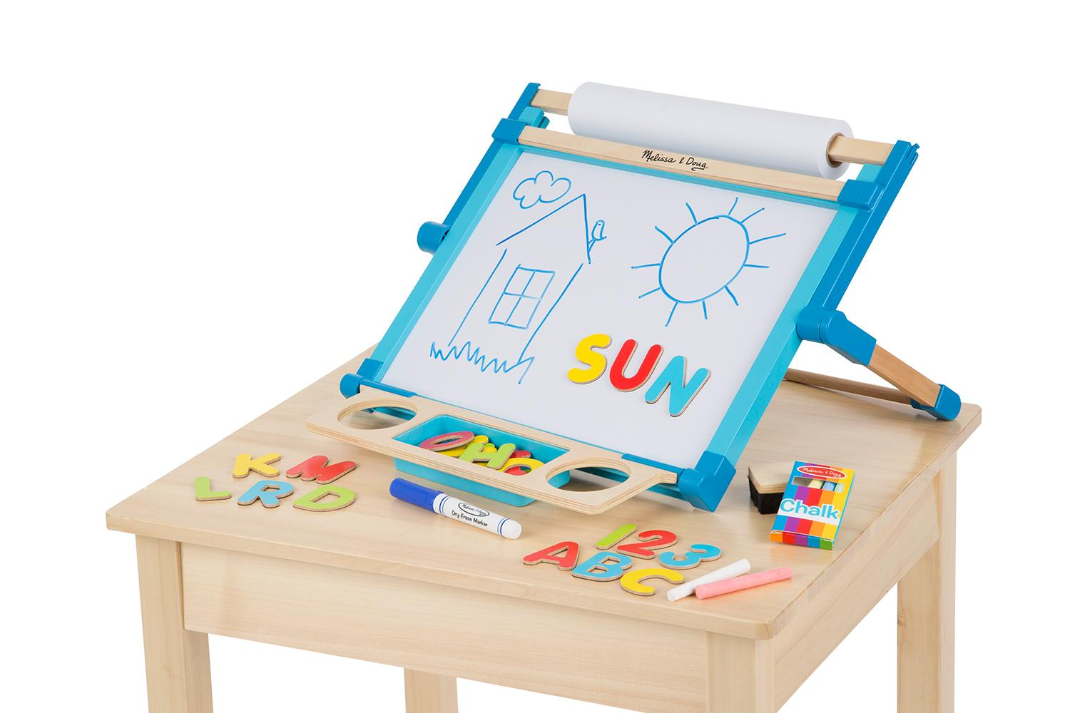 Amazon Com Melissa Amp Doug Deluxe Double Sided Tabletop