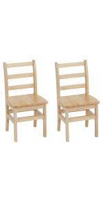 14in Three Rung Ladderback Chair - Assembled