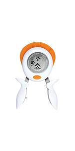 Per mancini e destrorsi L Piuma 1024412 Acciaio di qualit/à//Plastica Fiskars Perforatore squeeze /Ø 3,8 cm Bianco//Arancione