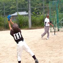 GP (ジーピー) 親子キャッチボール グローブセット 大人用 11.5インチ黒 / 子供用9インチ青 / やわらかボール付き