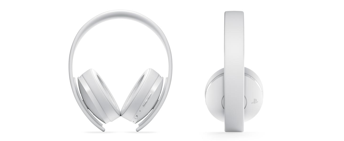Gold Headset White