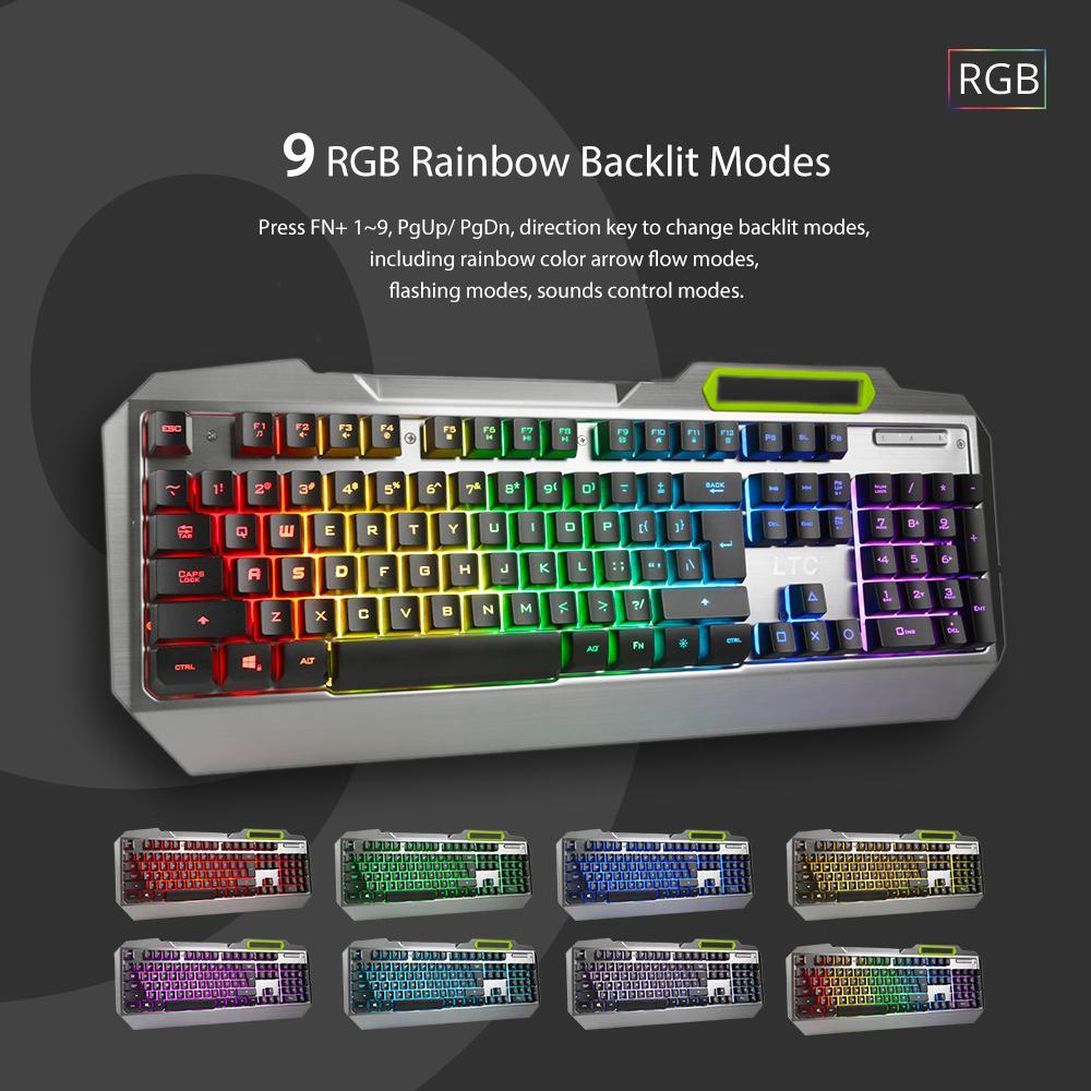 104 Key Anti Ghosting Rgb Programmable Led Usb Wired Keyboard Rgbrand Flashers Membrane