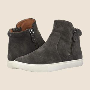 Carter Dual Zip Mid-top Sneaker, Black