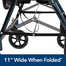 transport wheelchair wheel chair lightweight roscoe medical probasics companion transporter aluminum