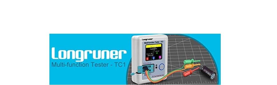 Longruner トランジスタテスター LCRメーター ロゴ