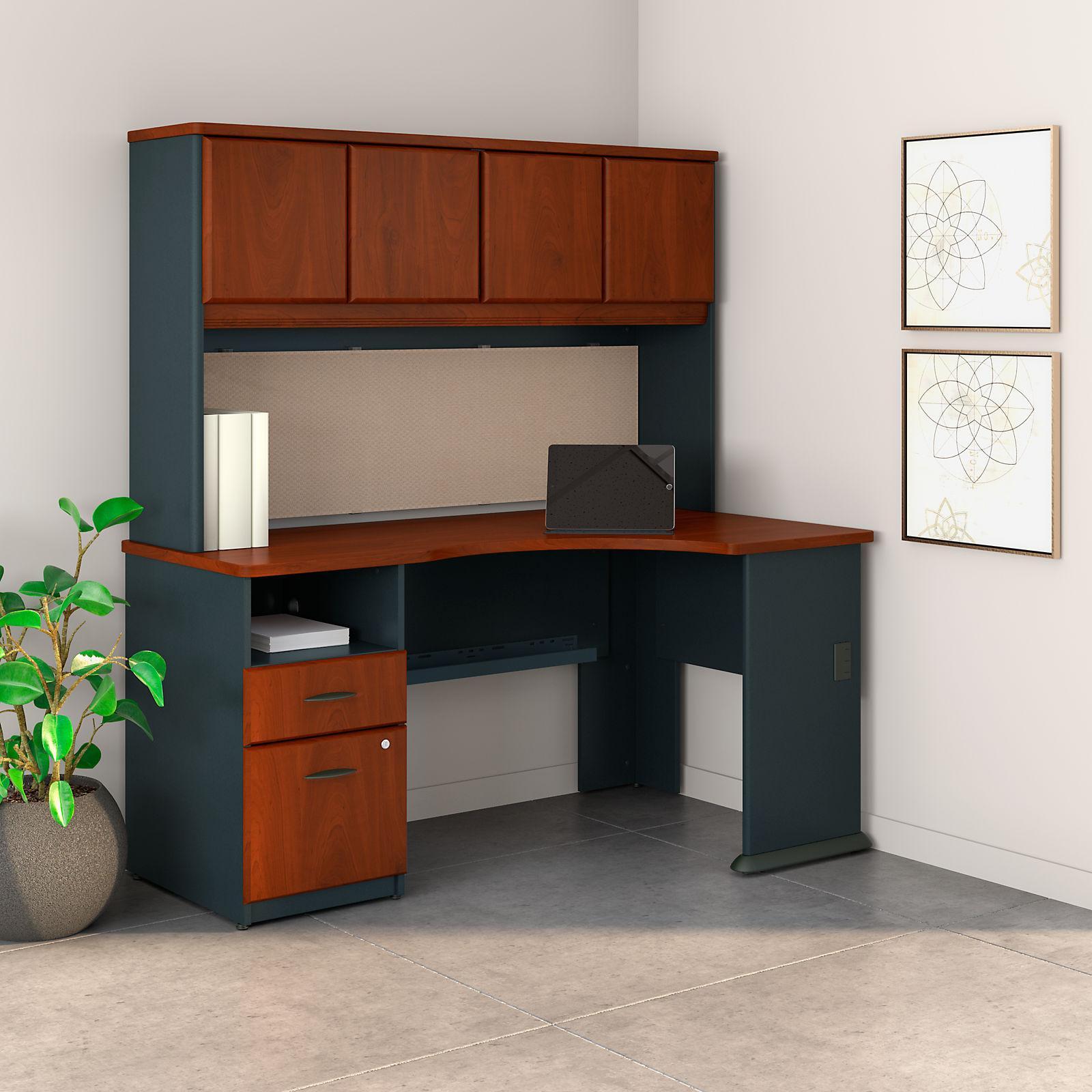 Amazon Com Series A 60w Corner Desk With Hutch And 2