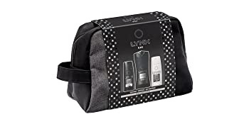 Lynx Black Wash Bag Men's Gift Set with Body Wash, Body Spray and Anti  Perspirant - Gift Set for Him