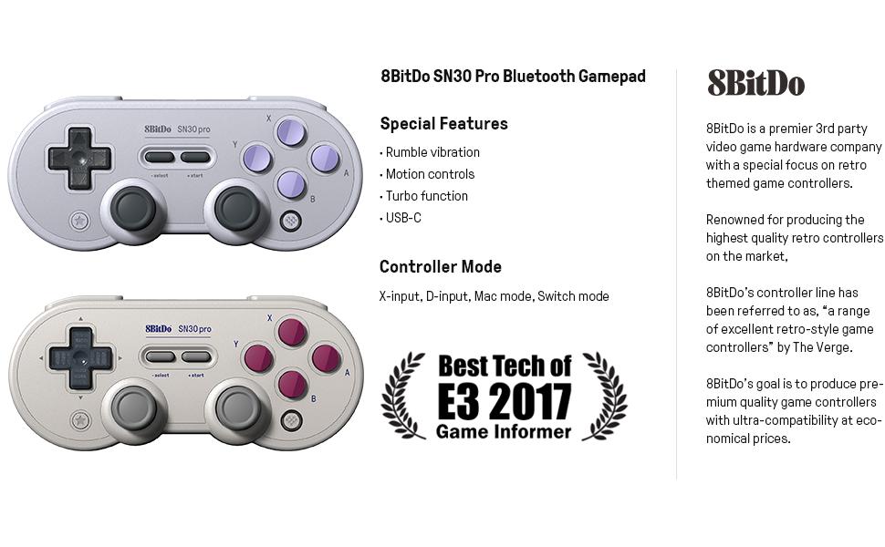 8bitdo sn30 pro bluetooth controller bluetooth gamepad wireless gaming controller game controller