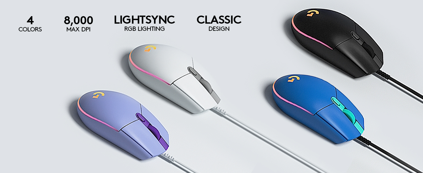 G203 LIGHTSYNC Wired Mouse