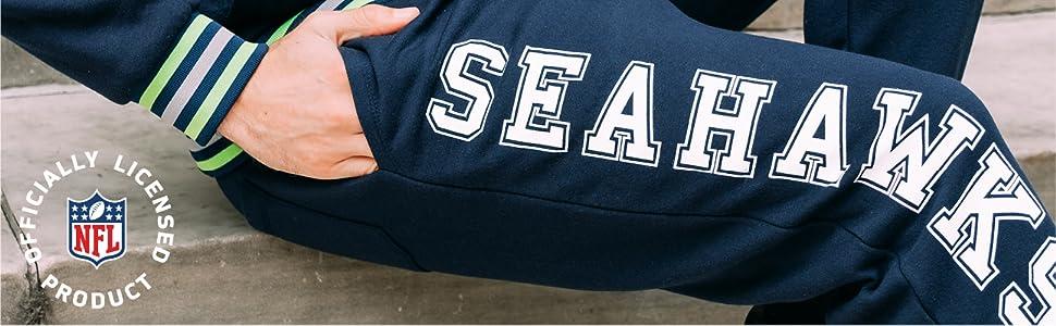 NFL Seattle Seahawks Ultra Game Mens JOGGER Heather Gray Medium