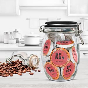 coffee k cups, single serve pods, coffee pods, sf bay coffee, san francisco bay coffee storage