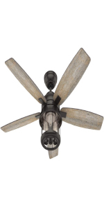 Ceiling Fan with LED Light and Remote Control