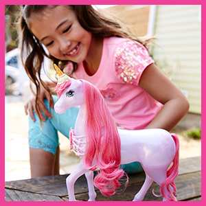 Barbie dreamtopia licorne friandises rose translucide avec - Barbie licorne ...