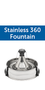 petsafe multi pet stainless 360 fountain