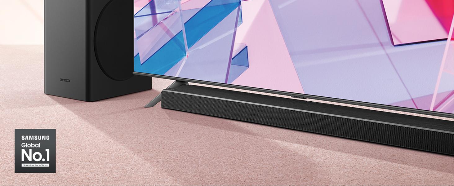 Barra de Sonido SAMSUNG HW-Q60T - Sonido 360W, 5.1Ch, Subwoofer inalámbrico, Dolby Digital 5.1, DTS Virtual:X, Q-Symphony y Tecnología Acoustic Beam: Amazon.es: Electrónica