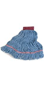 Mop head, mop, synthetic cotton blend, large mop, looped end mop