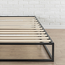 Zinus Somier Joseph Modern Studio 135x190x25cm, con plataforma Low Proflle Bed Frame