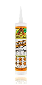 Gorilla Max Strength Clear Construction Adhesive