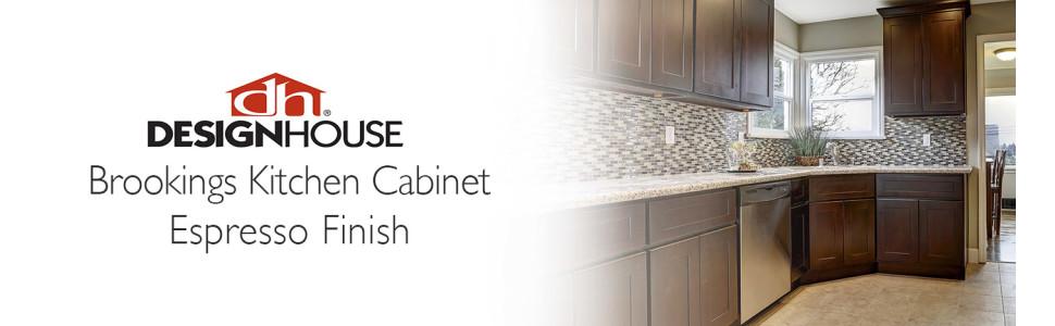 Amazon Com Design House Kitchen Cabinets Wall 36 In Espresso Home Kitchen
