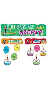 Pete the Cat Birthdays Are Groovy Mini Bulletin Board