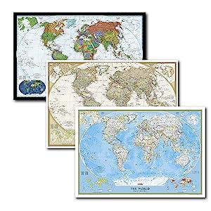 World Executive Wall Map Laminated Amazon Ca National