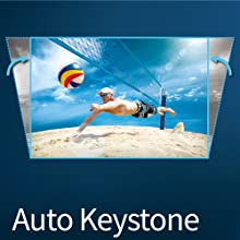 BenQ W1720's keystone correction function makes it simple to project ideally aligned images