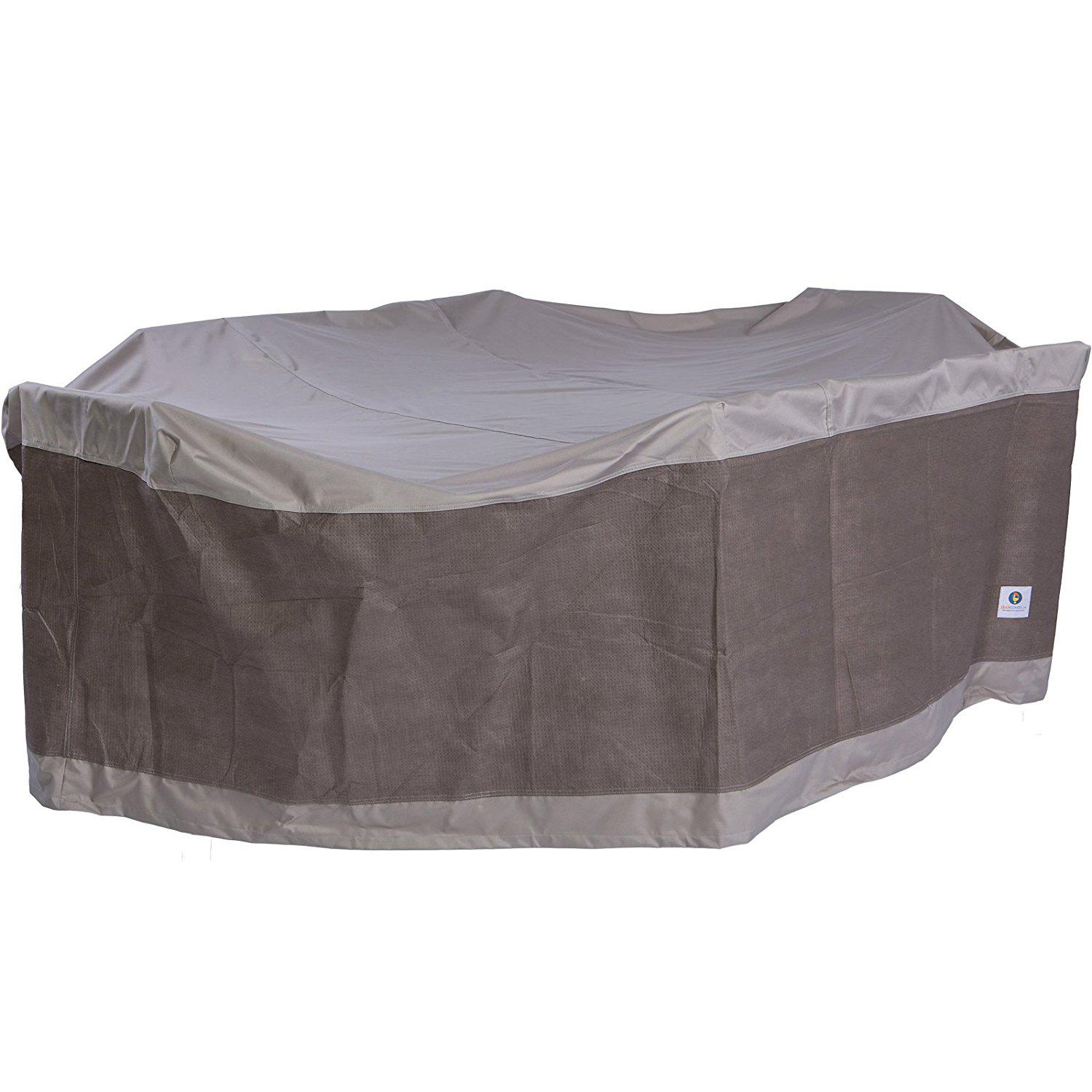 Duck Covers Elegant Rectangle/Oval Patio Table With Chairs Cover. View  Larger