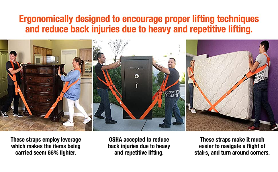 Ergonomically designed to encourage proper lifting techniques and reduce back injuries.