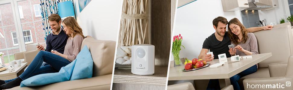 homematic ip smart home starter set sicherheit intelligenter alarm auch aufs smartphone. Black Bedroom Furniture Sets. Home Design Ideas