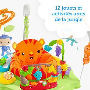 9f766374f5a3 Fisher-Price Jumperoo Jungle Trotteur Bébé avec Lumières