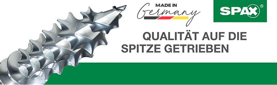 Senkkopf YELLOX A2L 5,0 x 90 mm Teilgewinde 4CUT 1081020500903 SPAX Universalschraube 100 St/ück Kreuzschlitz Z2