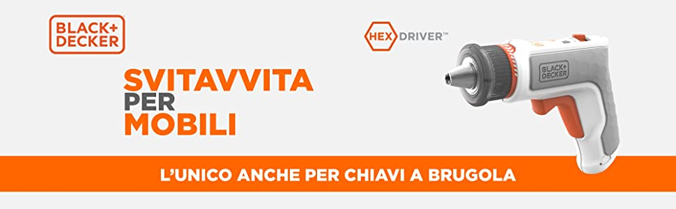 HEXDRIVER BLACK+DECKER BCRTA01-XJ Lo svitavvita per mobili Avvitatore Elettrico 3.6V