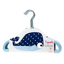 whale blue boy hanger