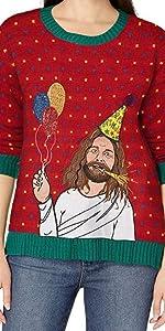 Funny Jesus Sweater, Jesus Christmas Sweater, Ugly Christmas Sweater, Jesus Sweater, Irreverent