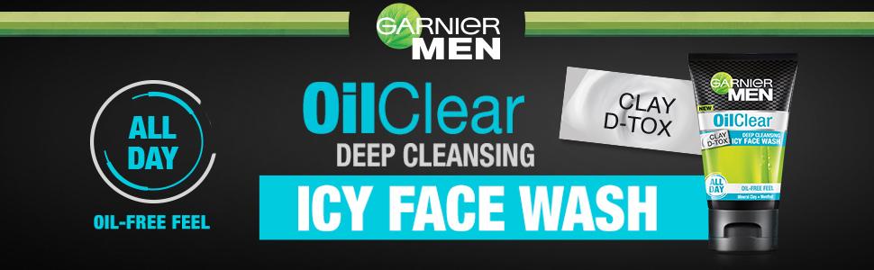 garnier, oil clear facewash