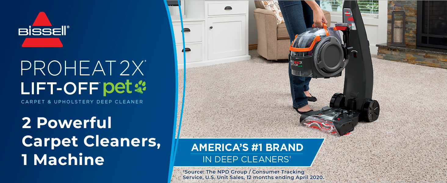 Amazon Com Bissell 15651 Proheat 2x Lift Off Pet Carpet Cleaner