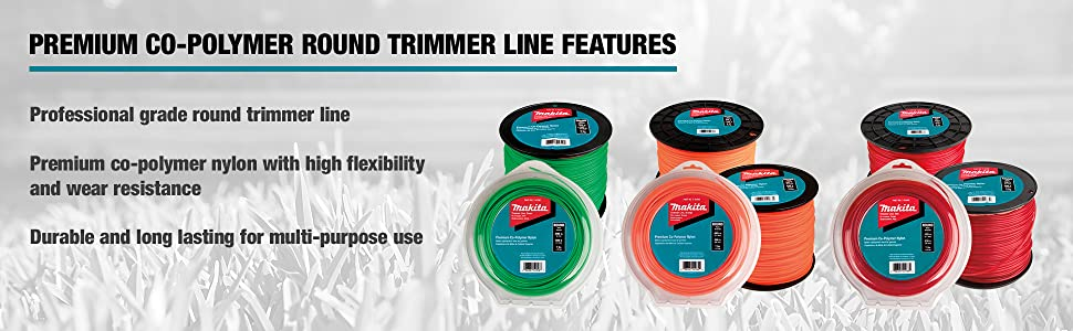 "Makita T-03442 Round Trimmer Line, 0.105"", Red, 230, 1 lbs"