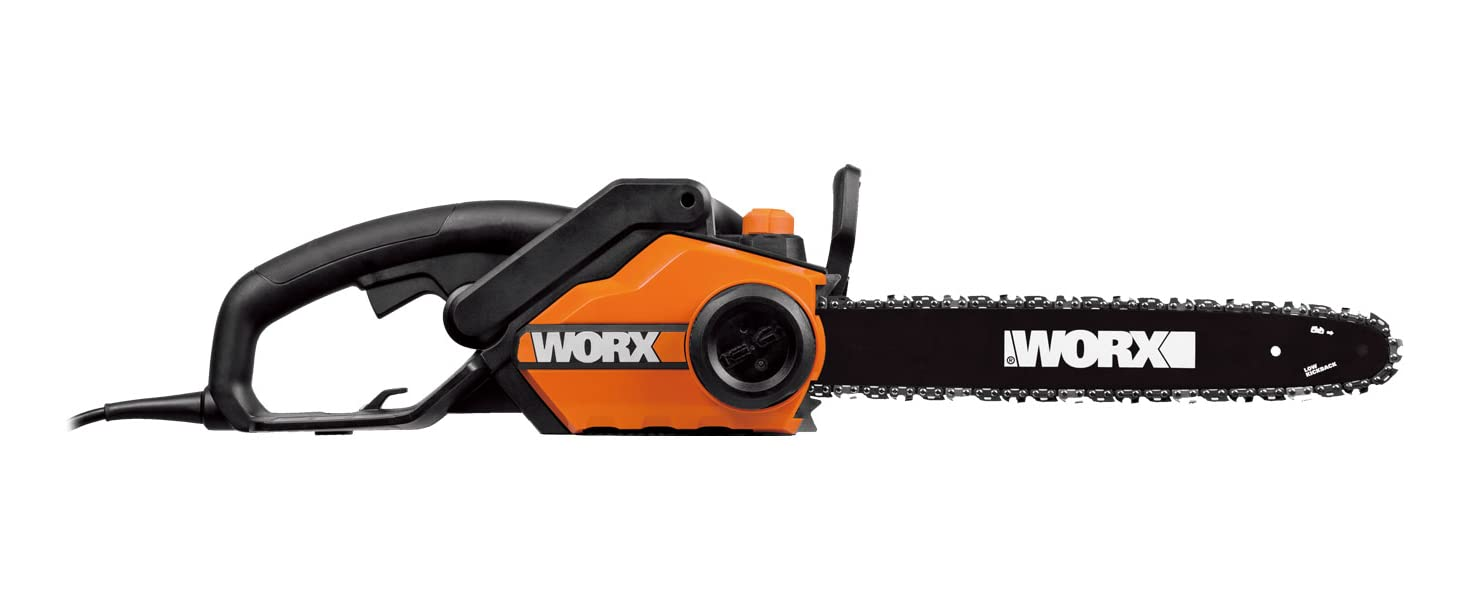 WORX 18-Inch 15.0 Amp Electric Chainsaw with Auto-Tension, Chain Brake, and Automatic Oiling