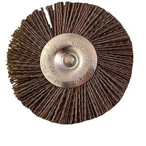 "Nyalox 4"" Wheel Brush Hex mandrel"